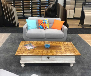 Elite Flooring Xtra sunbury internal image of store with couch and coffee table