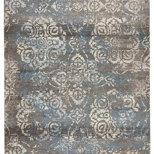 City Collection – Grey Blue Brocade 574