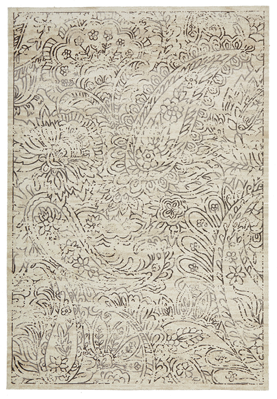 City Collection Ivory Paisley 576 Flooring Xtra