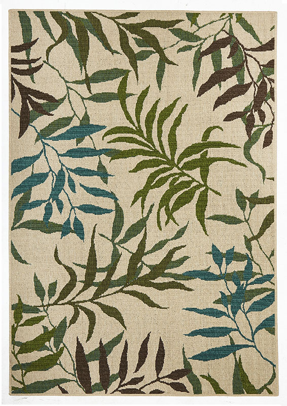 Alfresco - Blue/Green Leaf 6502