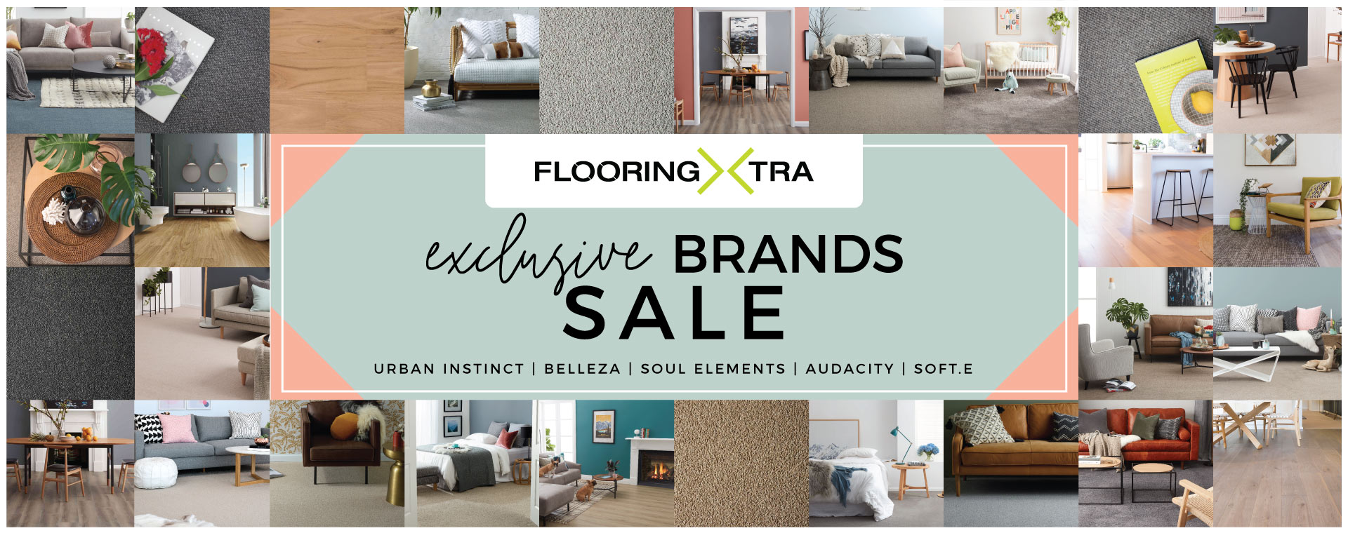 Flooring Xtra Exclusive Brands Sale Banner