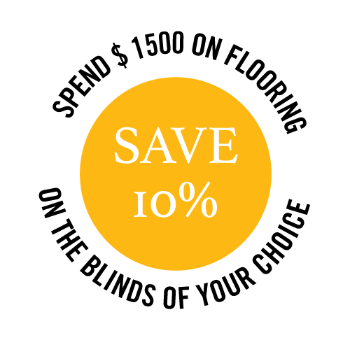 Spend on flooring and blinds and save