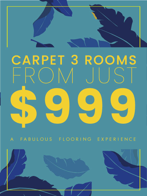 carpet 3 rooms from just $999 flooring xtra national offer during february
