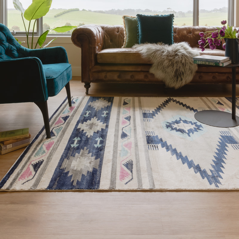 Zanzibar rug in living room